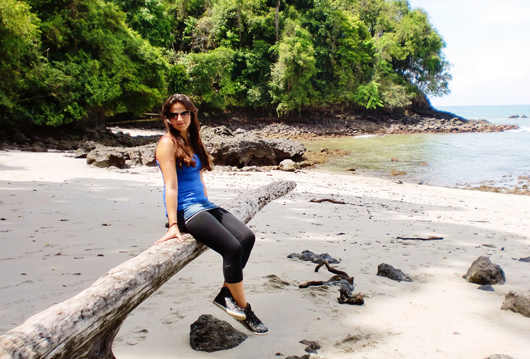 Cyriara at the beach