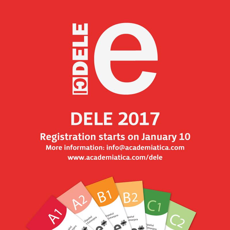 DELE Exam in San José Costa Rica - Registration open from January 10, 2017