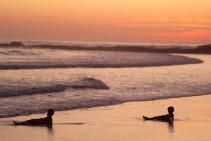 Kids on the beach in Costa Rica