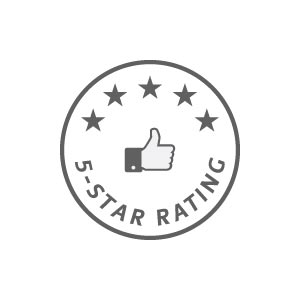 5-star rating on Facebook