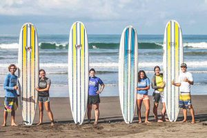 Learn to surf with our partner school