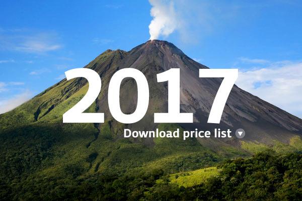 2017 Academia Tica Price List